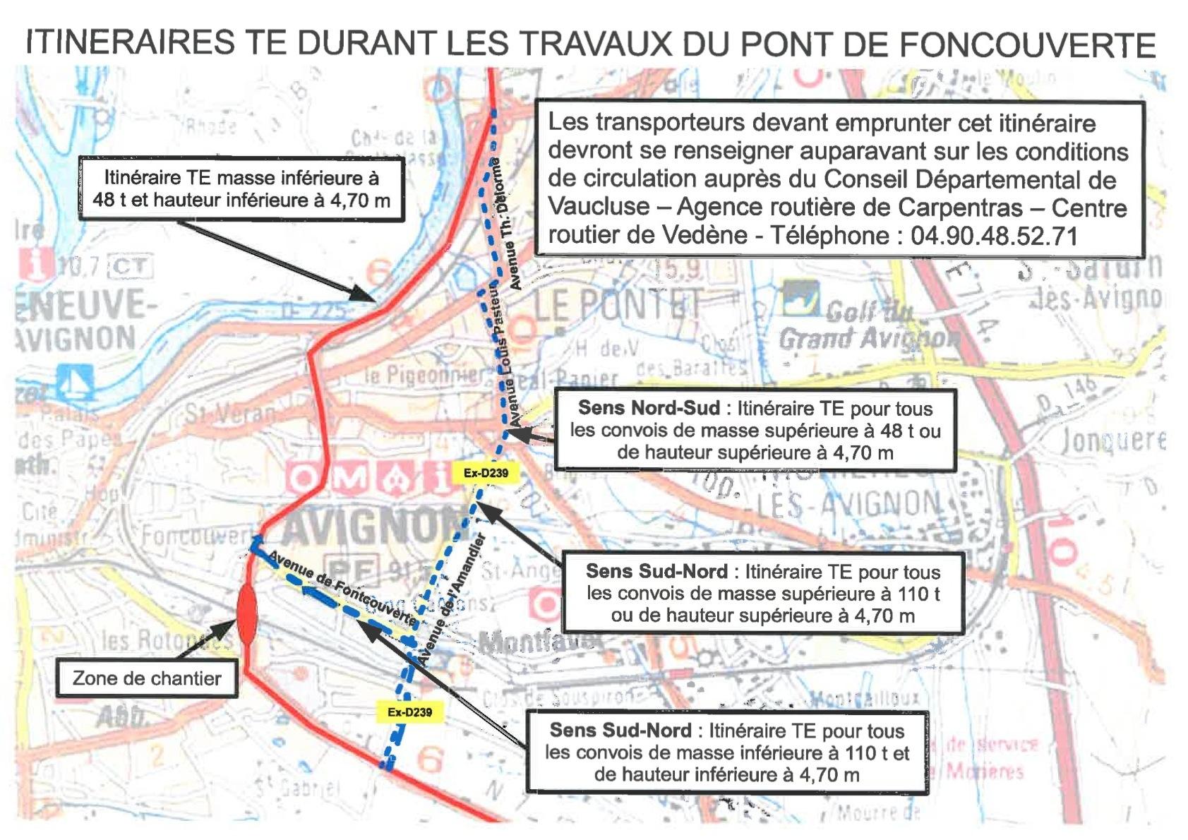 Travaux Pont de Fontcouverte