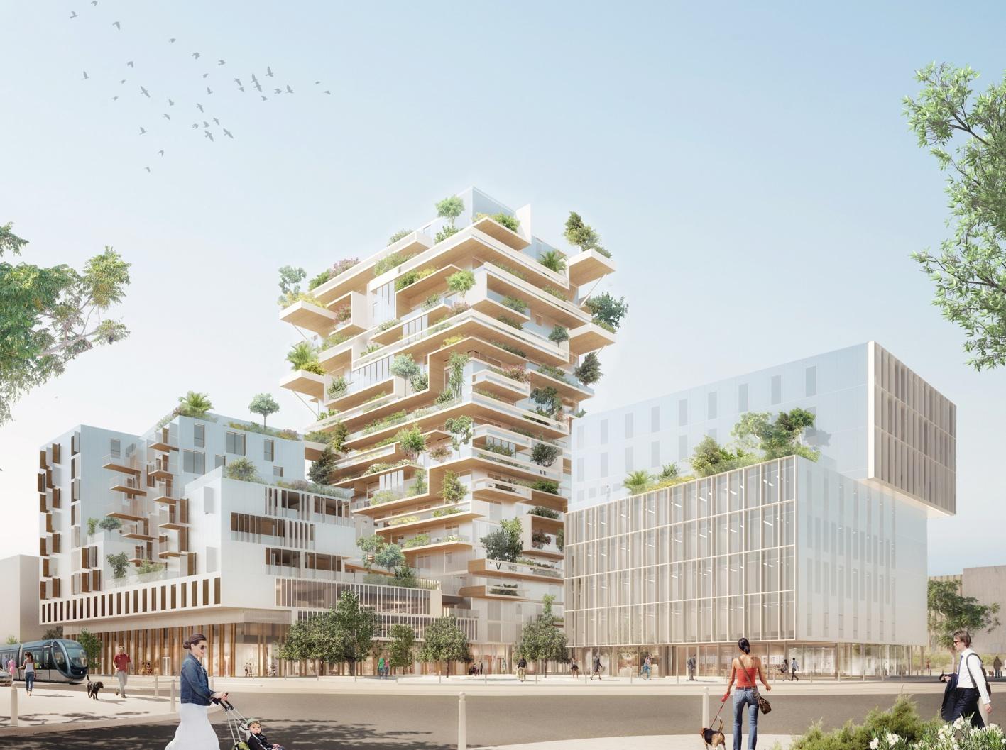 Projet Tour Hyperion en bois à Bordeaux