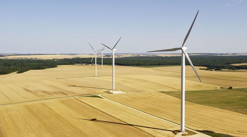 Frankreich , Windenergie ,  Windpark Les Hauts Pays in Frankreich. France , windenergy ,  Les Hauts Pays wind farm in France.  Repower Systems SE, Repower S.A.S. 16.7.2010 (c) Foto: Jan Oelker / Repower , 2010 jan.oelker@gmx.de