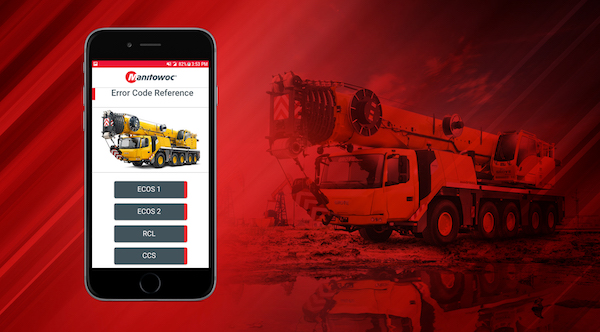 Manitowoc Cranes has announced a new smartphone app that will help customers to diagnose technical issues on their cranes much faster. The free app will be available on iOS and Android devices, and will enable users to understand the numeric diagnostic codes that are generated by their on-board control systems. Manitowoc is the first manufacturer in the crane industry to release an app of this kind.