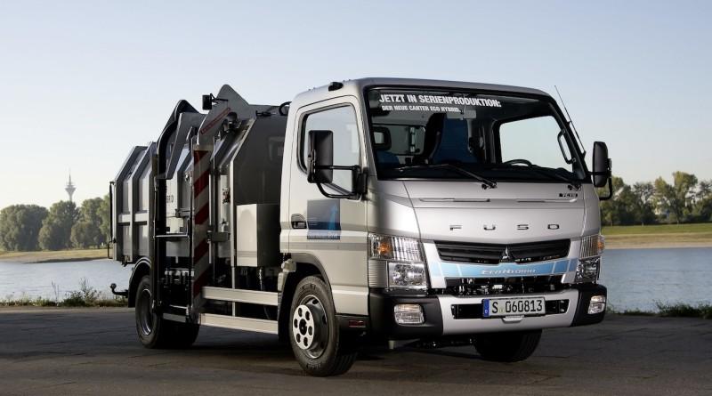 Fuso Canter Eco Hybrid, Müllsammelfahrzeug   Fuso Canter Eco Hybrid