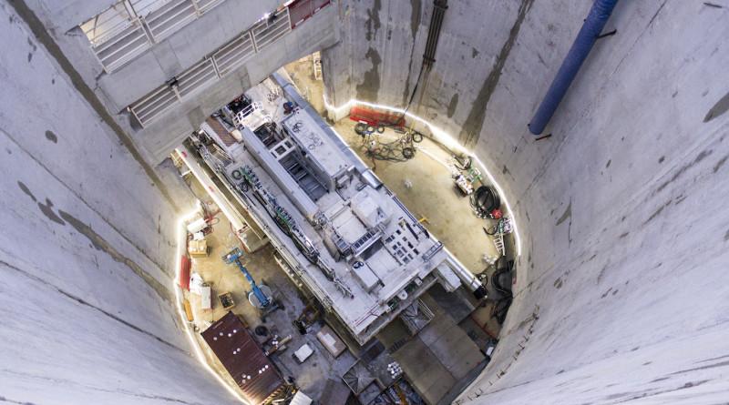 Fete de chantier au puits Robespierre a Bagneux, pour l'allumage du tunnelier Ellen, 3e du Grand Paris Express