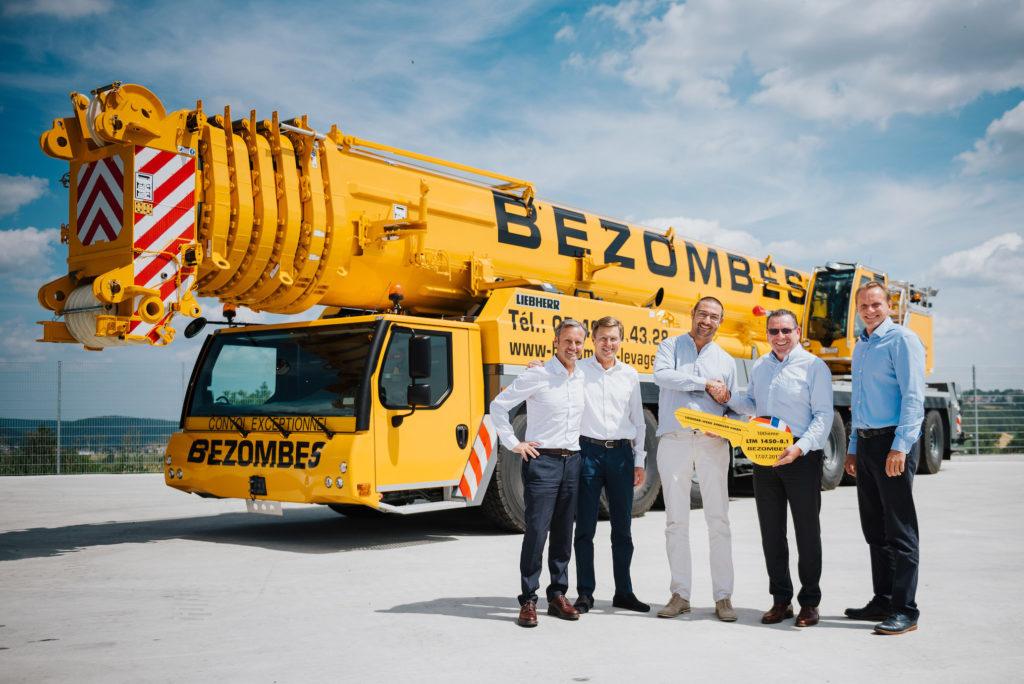 La 100e grue LTM1450-8.1 livrée à la société Bezombes