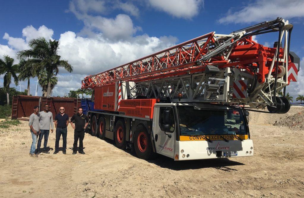 La première grue MK88 arrivée en Guadeloupe