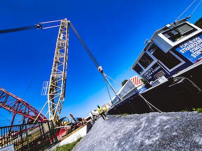 Jeumont Electric expédie un rotor de 300 tonnes par voie fluviale