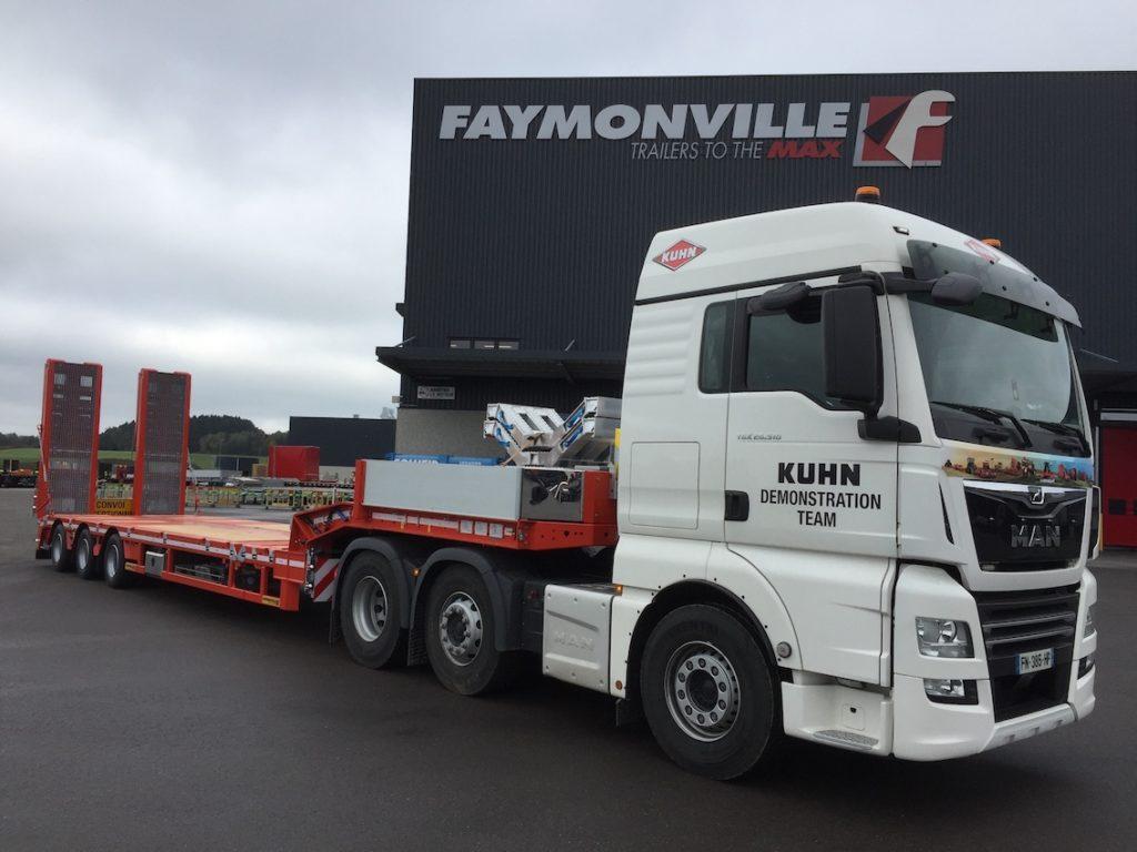 Une nouvelle semi-remorque 3 essieux pour Kuhn