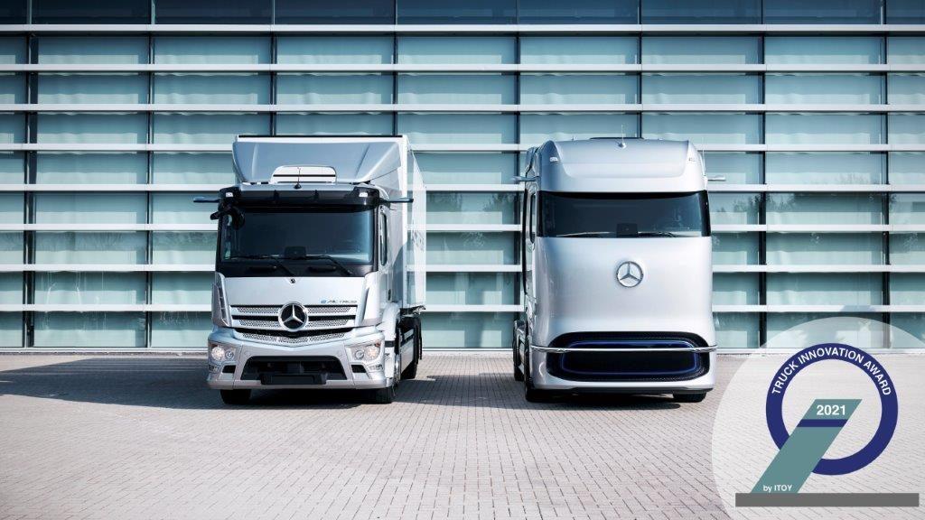 Les camions électriques Mercedes récompensés