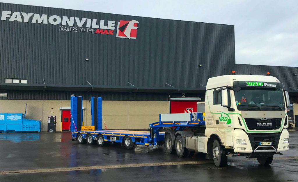 VRD France livrée d'une nouvelle semi-remorque Faymonville