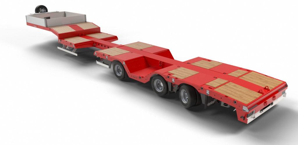 Nooteboom : une nouvelle semi-remorque surbaissée avec fosses à roues