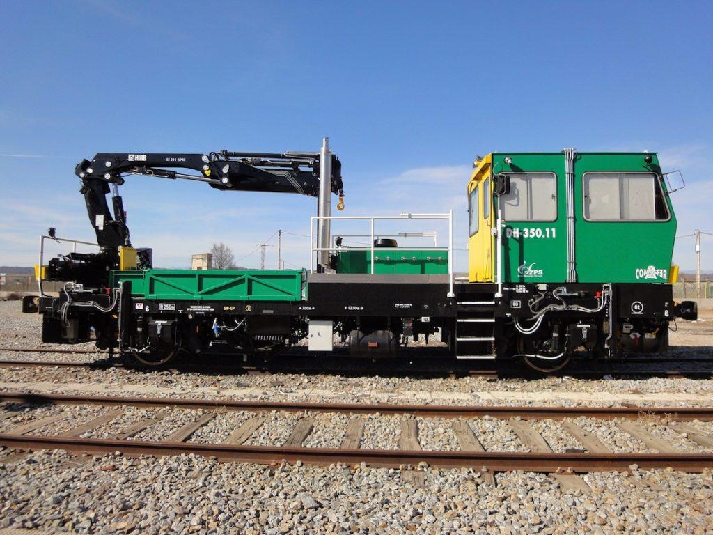 37 grues Hiab  pour les travaux ferroviaires en Espagne