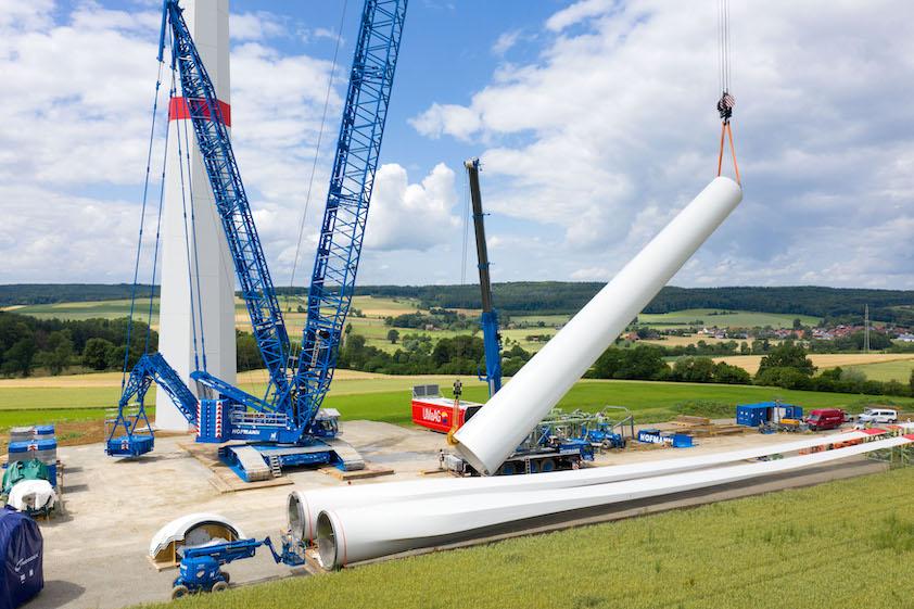 Premier chantier éolien pour la nouvelle LR 1700-1.0 de Liebherr