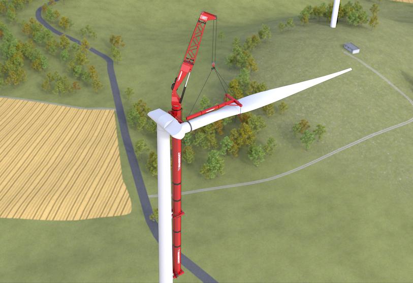 Le nouveau système WTA de Mammoet pour le montage d'éoliennes